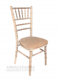 Chiavari Limewashed Chair & Ivory Seat Pad