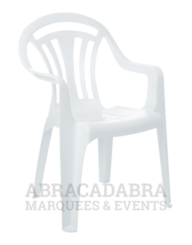 White Plastic Bistro Chair